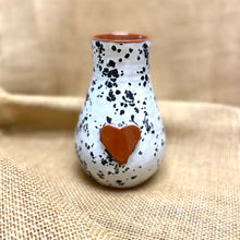 Load image into Gallery viewer, Calliope Heart Vase White Sprinkles