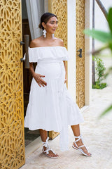 Rita Rumba Midi Dress - Maternity | Black Book Fashion