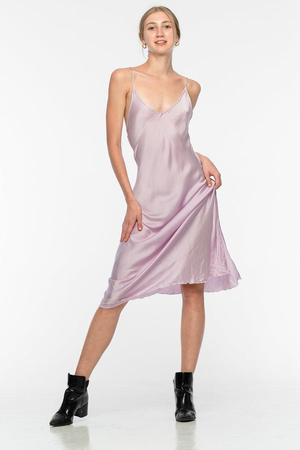 Lily Silk Dress - Lilac | Black Book Fashion