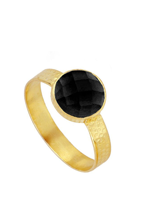Espinela Round Ring | Black Book Fashion