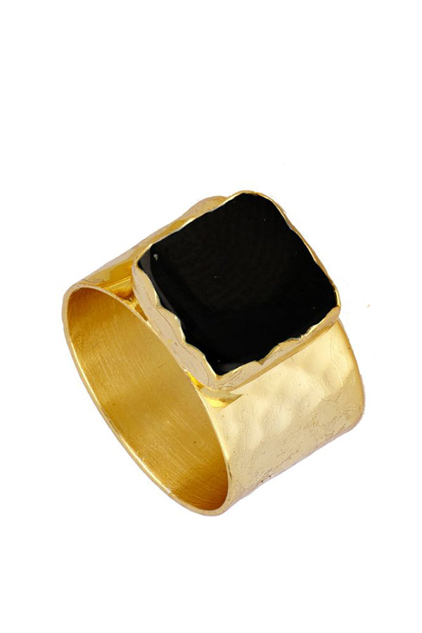 Espinela Square Ring | Black Book Fashion