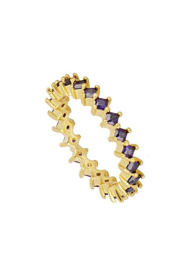 Lilac Zirconias Ring | Black Book Fashion