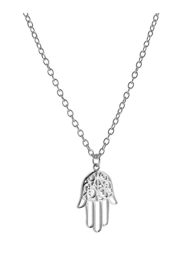 Hamsa Hand Necklace | Black Book Fashion