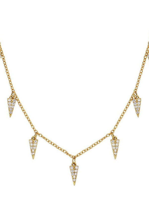 Triangles zirconia necklace | Black Book Fashion