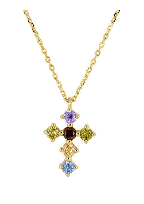 Cross Zirconia Necklace | Black Book Fashion