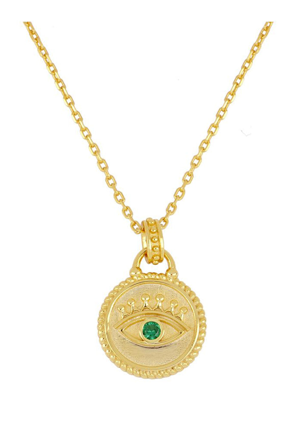 Evil eye round necklace | Black Book Fashion