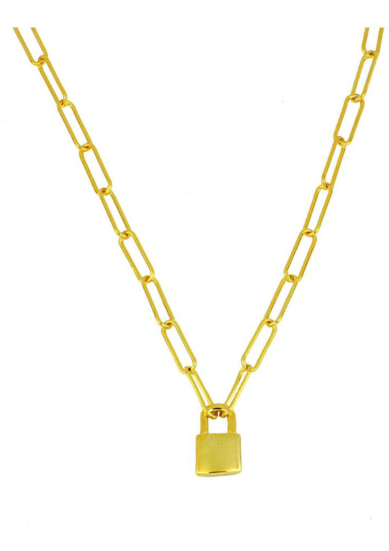Lock Chain Necklace | Black Book Fashion