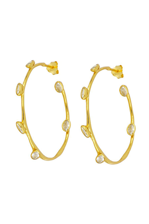 Zirconia Hoops | Black Book Fashion