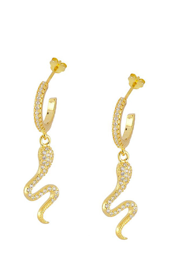 Snake Zirconia Earrings | Black Book Fashion