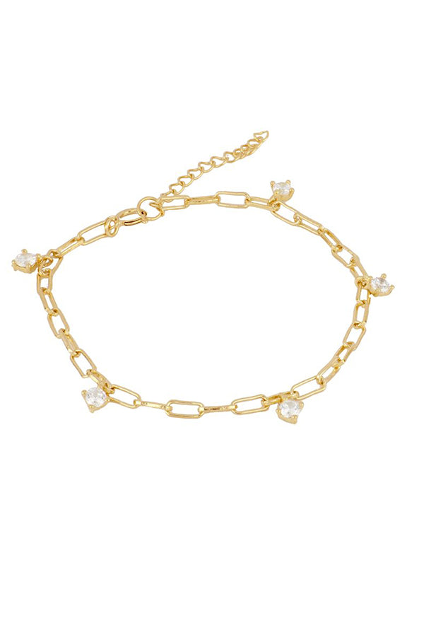 Zirconia Chain Bracelet | Black Book Fashion