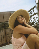 Ultra Wide Ventura Straw Hat | Black Book Fashion