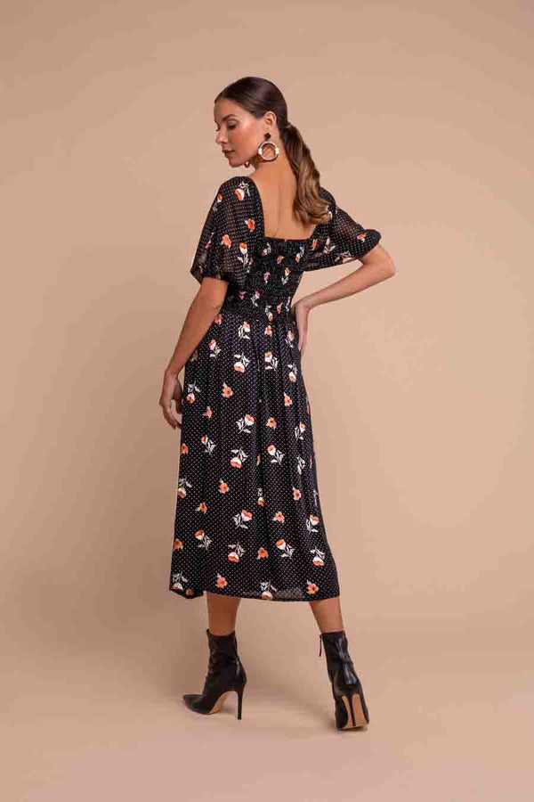Gabriella midi dress | Black Book Fashion