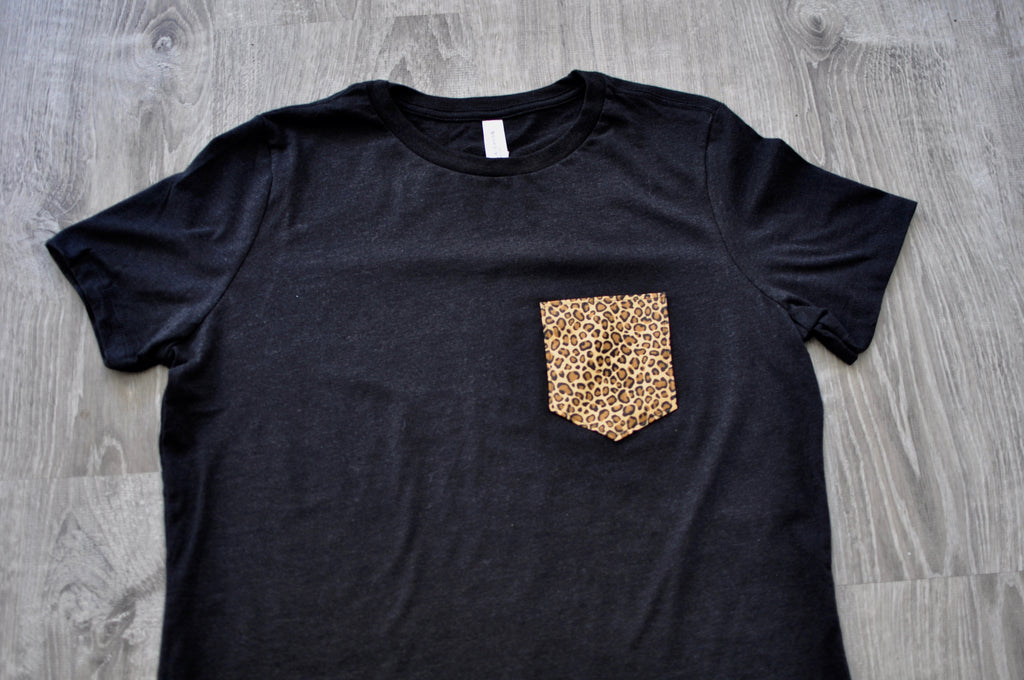 Cheetah Print Pocket T-Shirt