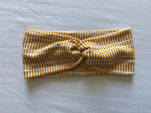 Mustard/White Twist Headband