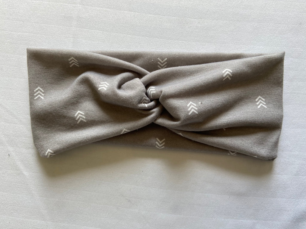 Grey Arrow Twist Headband