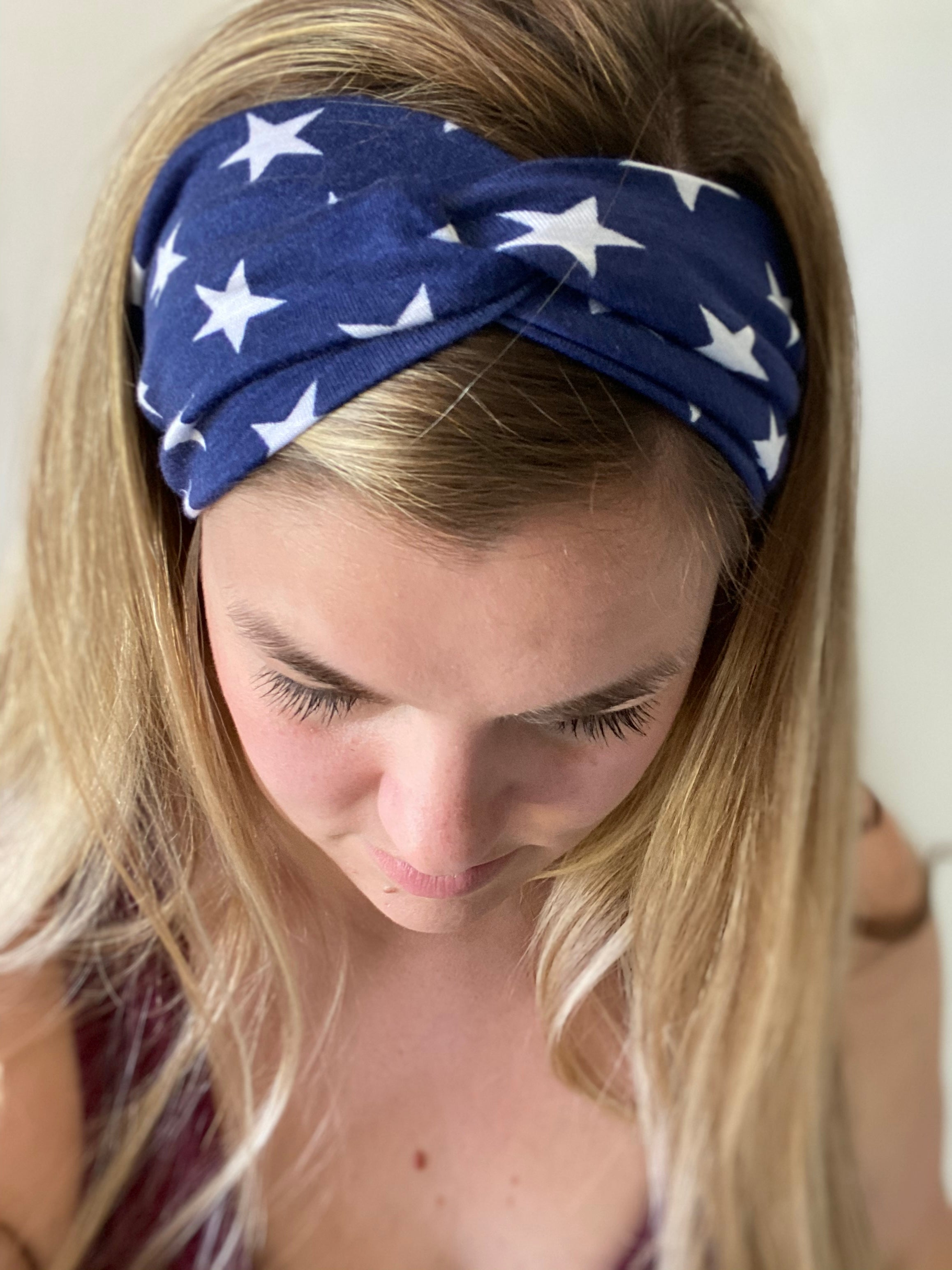 Patriotic Stars Twist Headband
