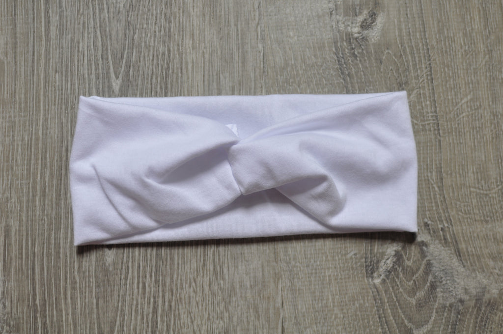 White Twist Headband
