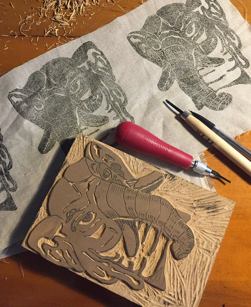 Woodblocks and Carving a Linoleum Block