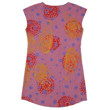 Load image into Gallery viewer, Silk Blend Shift Dress // Cochineal Pink with Polka Dots