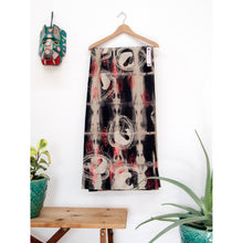 Load image into Gallery viewer, Black Linen Anti Shibori Dyed Printed with Almond Shells and Chestnuts