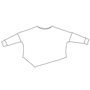 Custom Long Sleeve Asymmetrical Sweatshirt