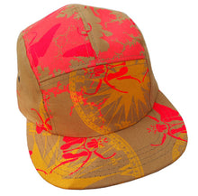 Load image into Gallery viewer, Screenprinted Canvas 5 Panel Adjustable Hats