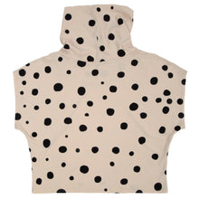 Load image into Gallery viewer, Bamboo Jersey Knit Cowl // Black Polka Dots on Cream