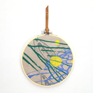 Embroidery Ring Fiber Wall Art