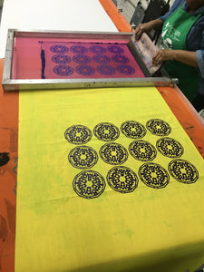 Textile Screenprinting Private Workshop: Repeat Pattern Printing