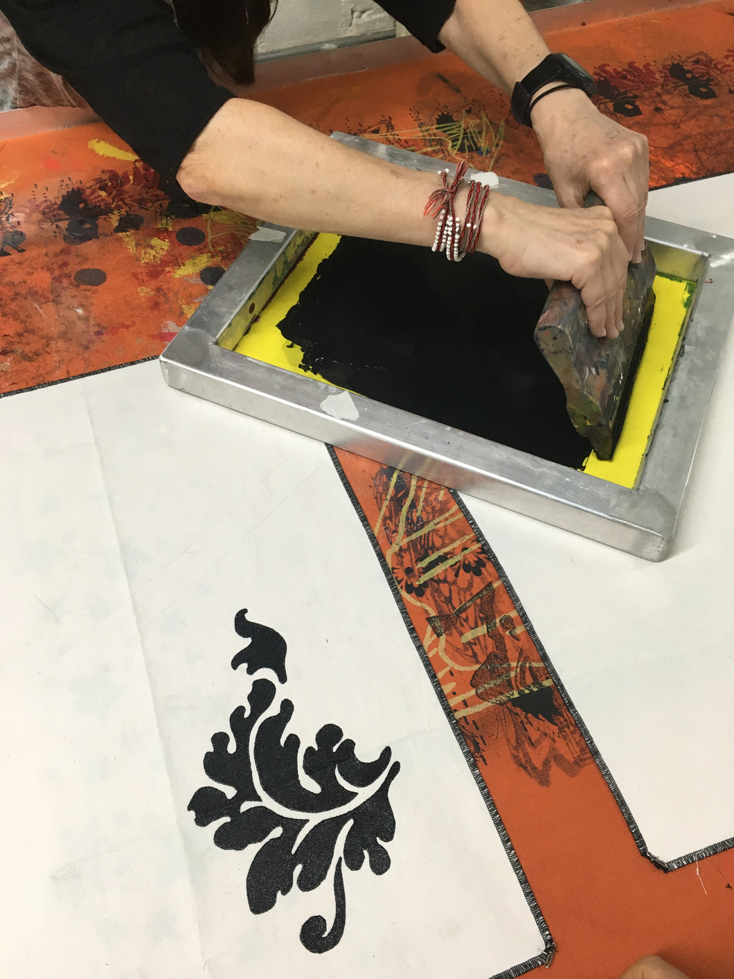 Stencil Silkscreening Workshop