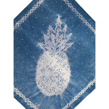 Load image into Gallery viewer, Stitching Resist Shibori + Embroidered Fabric; The Pineapple