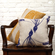 Load image into Gallery viewer, Custom Printed and Made Silkscreened Basketweave Linen Pillows