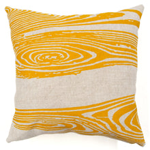 Load image into Gallery viewer, Woodgrain Printed Basketweave Heavy Linen Throw Pillows