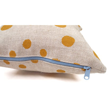 Load image into Gallery viewer, Hand Printed Polka Dot Basketweave Heavy Linen Throws Pillows