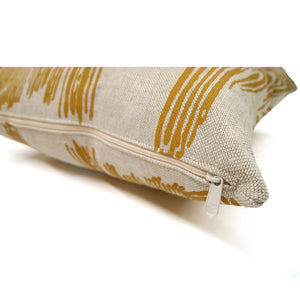 Woodgrain Printed Basketweave Heavy Linen Throw Pillows