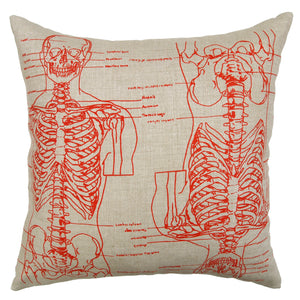 Skeleton Basketweave Heavy Linen Throw Pillows