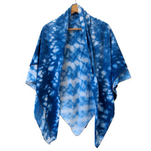 Load image into Gallery viewer, Large Shibori Indigo Scarves