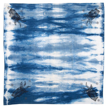 "Load image into Gallery viewer, Kitchen Towel 28"" x 28"" Indigo Shibori Dyed Cotton"