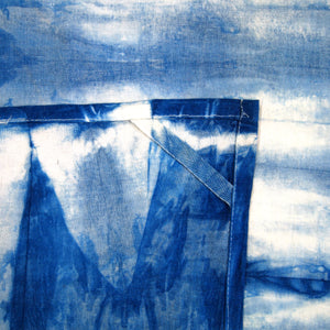 "Kitchen Towel 28"" x 28"" Indigo Shibori Dyed Cotton"
