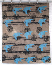 Load image into Gallery viewer, Black Linen Anti Shibori Dyed Printed with Horses and Firework Remnants