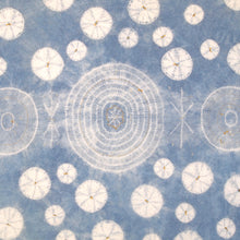Load image into Gallery viewer, Stitching Resist Shibori + Embroidered Fabric; Pale Blue Bubbles