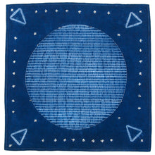 Load image into Gallery viewer, Stitching Resist Shibori + Embroidered Fabric; Moon