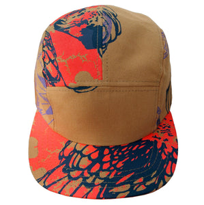 Screenprinted Canvas 5 Panel Adjustable Hats