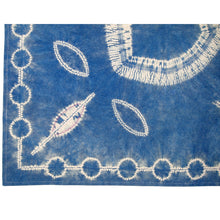 Load image into Gallery viewer, Stitching Resist Shibori + Embroidered Fabric; Crest