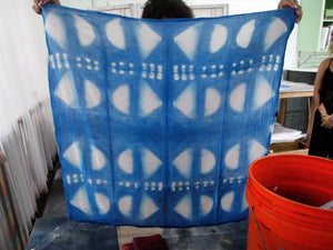 Shibori Dyeing in Indigo Blue Workshop; Private, Group, or Event