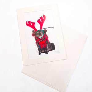 Pug Holiday Greeting Cards