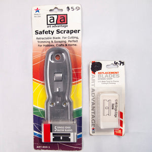 Saftey Scraping Tool for Razor Blades