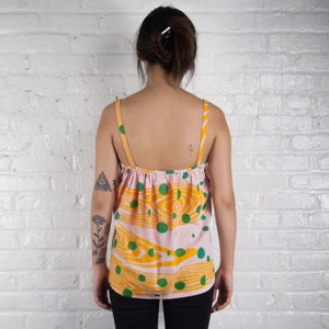 Summer Linen Tank Top // shibori skeleton
