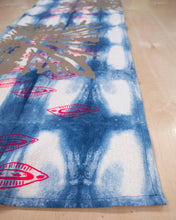 Load image into Gallery viewer, Table Runner // Indigo printed Ink Splot + Almond Shells