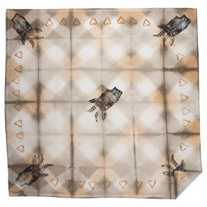 "Kitchen Towel 28"" x 28"" // Olive Shibori Ram"